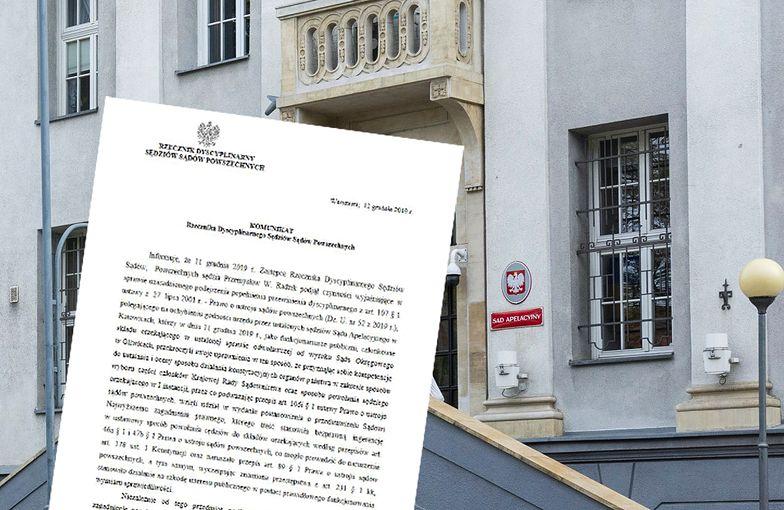 Pod komunikatem podpisał się Piotr Schab