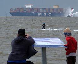 Największy na świecie kontenerowiec MSC Gulsun płynie do Polski. Dotrze do Gdańska w piątek