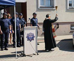 Wiceszef policji z pompą przekazał podwładnym... używany radiowóz