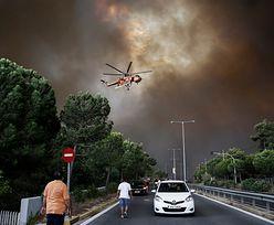 Grecja. Zamknięty Akropol, groźny pożar szaleje w pobliżu Aten
