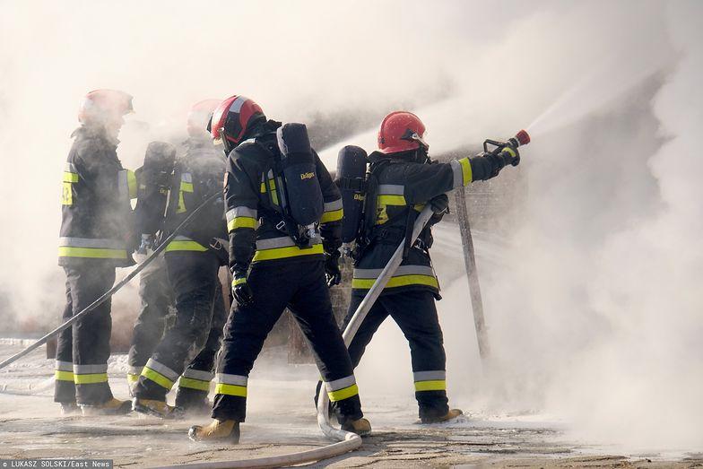 Pożar w Lwówku w powiecie nowotomyskim. Walczy z nim 11 zastępów straży pożarnej