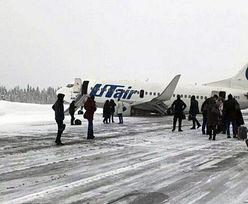 Awaryjne lądowanie rosyjskiego samolotu. Doszło do uszkodzenia podwozia
