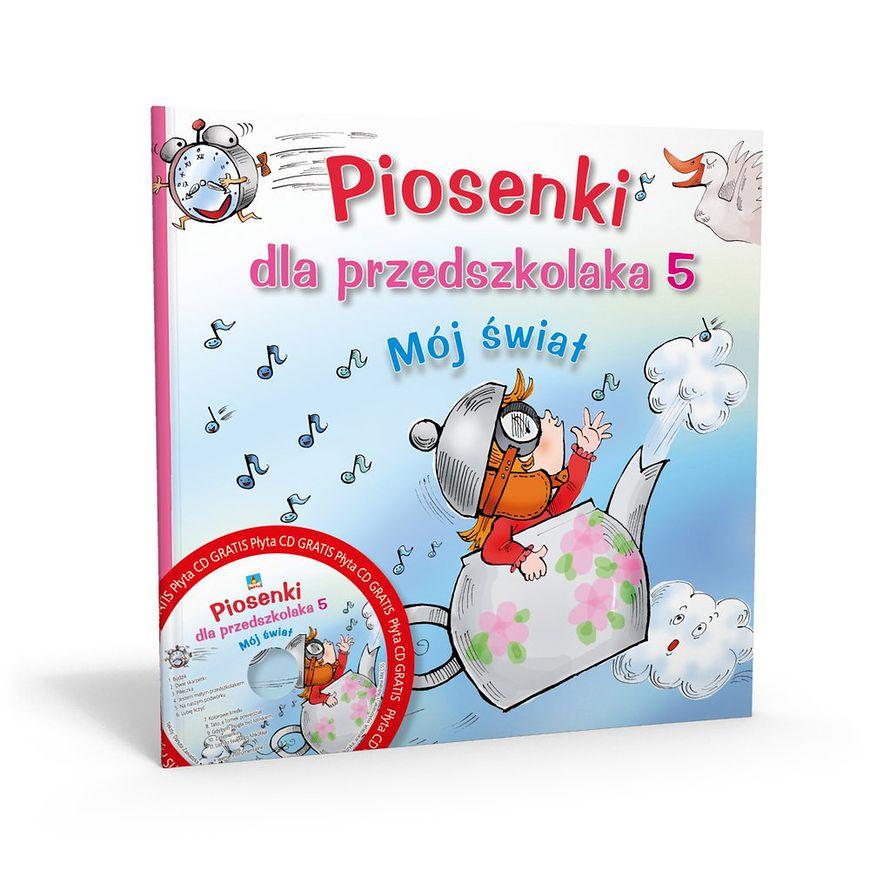 Okładka książki - Piosenki dla przedszkolaka Mój świat