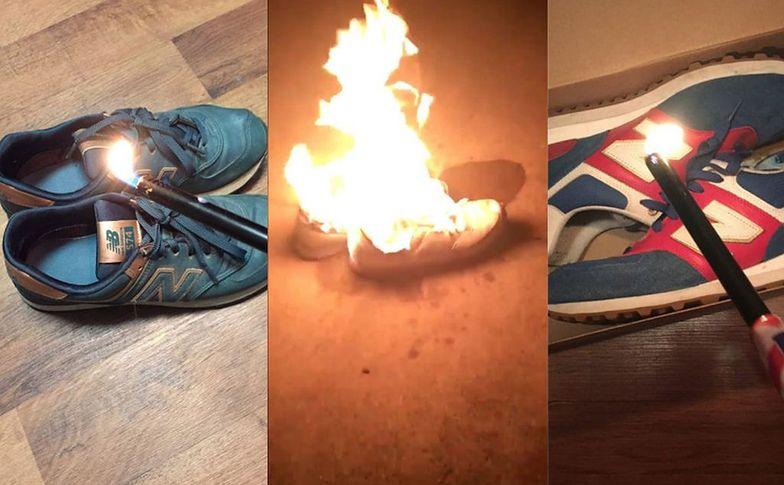 Ludzie masowo palą buty znanej marki. Wystarczyło kilka słów