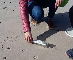 List w butelce odnaleziony na plaży w Rowach