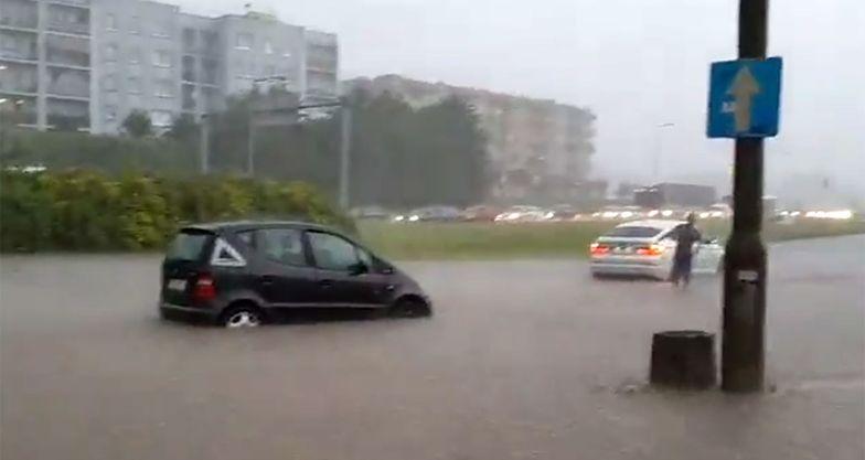 Woda zalała wiele ulic Gorzowa Wielkopolskiego