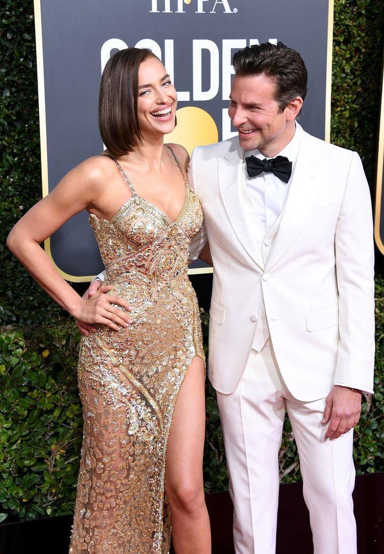 Irina Shayk i Bradley Cooper n rozdaniu Złotych Globów w 2019 roku