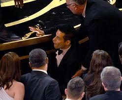 Oscary 2019: Rami Malek odebrał nagrodę i spadł ze sceny