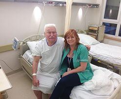 """Lech Wałęsa w szpitalu. """"Nie mogę tu być w koszulce z Konstytucją"""""""