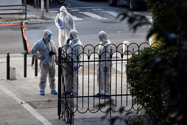 Eksplozja bomby przed kościołem w Atenach