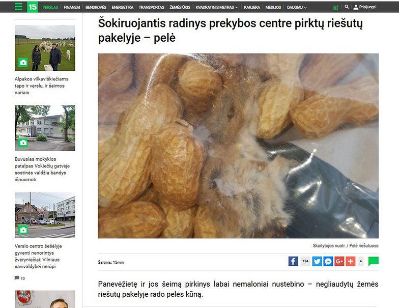 O nieprzyjemnym znalezisku z litewskiego Lidla pisze portal 15min.lt.