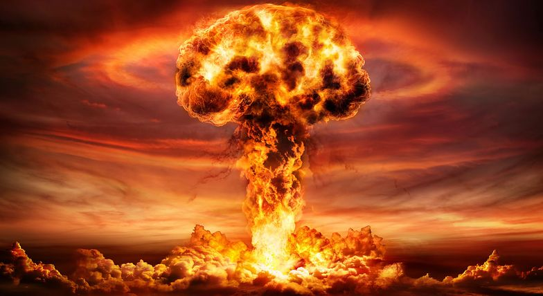 Nuclear warheads pointing up. The threat of nuclear weapons.