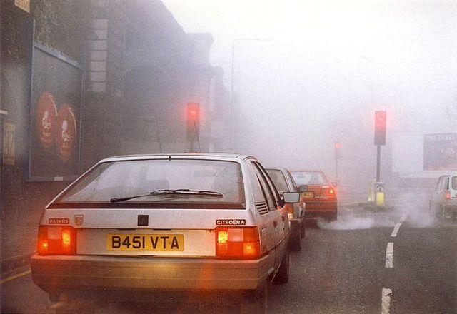 Miasto pokryte smogiem