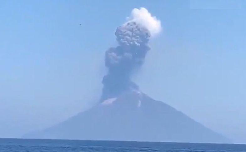Potężna erupcja wulkanu we Włoszech