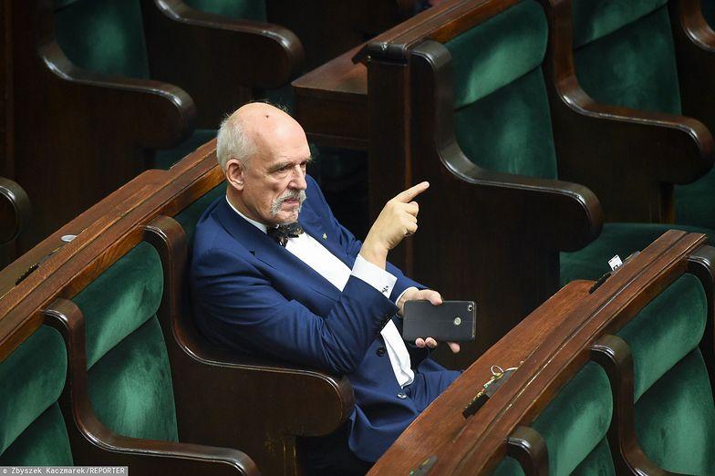 Janusz Korwin-Mikke nie popiera ustawy dyscyplinującej sędziów