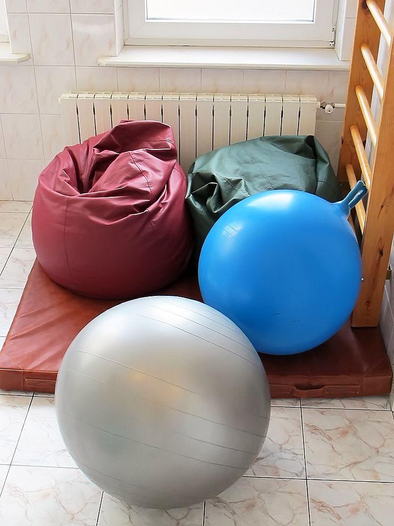 Worki i piłki dla rodzącej
