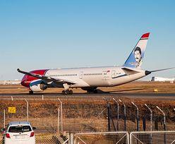 Londyn. Dreamliner linii Norwegian Air uderzył w ogrodzenie