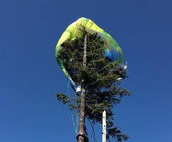 Karkonosze. Paralotniarka zawisła na drzewie. Wysłano śmigłowiec