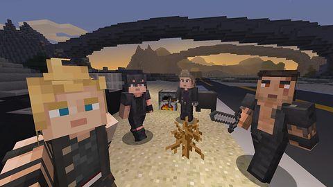 Final Fantasy XV wyciosane w Minecrafcie