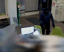 Tak wyglądał napad na bank w Katowicach. Złodziej zgubił pieniądze podczas ucieczki