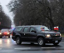 """Wpadka podczas wizyty wiceprezydenta USA. """"Nie ma prawa jeździć z tą flagą"""""""