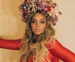 Beyoncé w ciąży stawia na czerwień i powiększone usta!