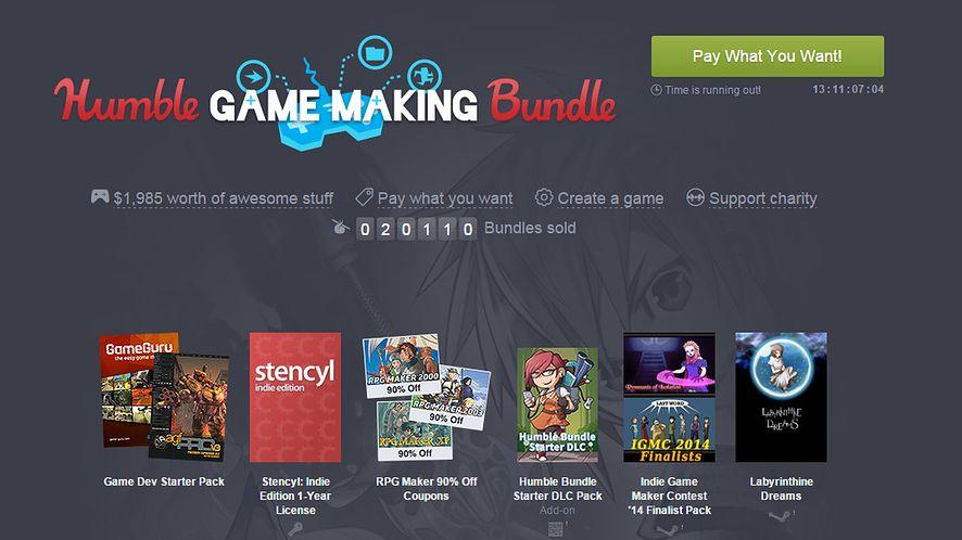 Nowy Humble Bundle pomoże tworzyć własne gry