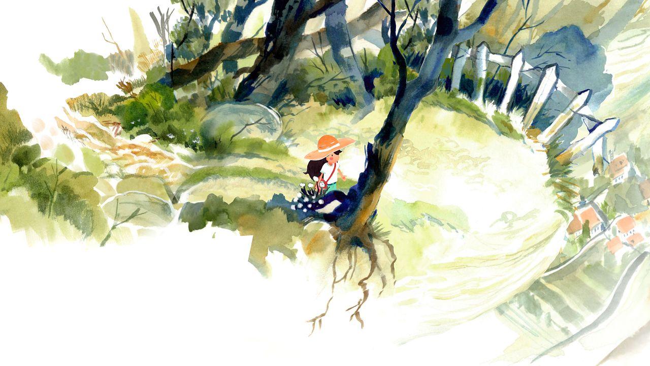 Akwarelowa wycieczka do czasów dzieciństwa w Dordogne