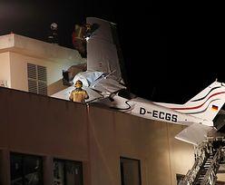 Samolot spadł na stację paliw w Hiszpanii