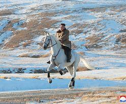 Korea Północna. Kim Dzong Un na białym koniu wybrał się na świętą górę