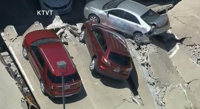 USA. Parking zapadł się pod ziemię. Pokazano nagranie