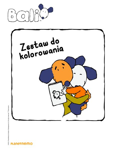 "Kolorowanki - ""Piesek Bali"""