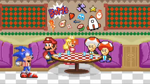 Mario spotyka po latach Sonica
