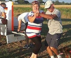 Awaryjne lądowanie w polu. Rolnicy ugościli pilota po polsku