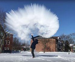 Wir polarny w USA. Amerykanie robią śnieg z wrzącej wody