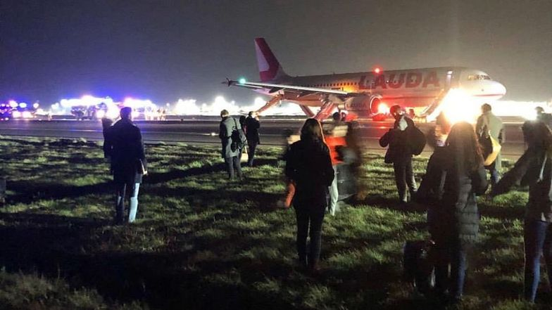 Eksplozja w samolocie na lotnisku Stansted koło Londynu
