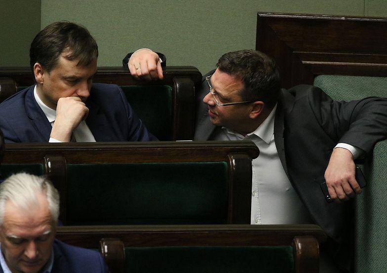 Minister sprawiedliwości Zbigniew Ziobro i wiceszef resortu Michał Wójcik