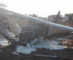 Warmia. Samolot spadł na ziemię chwilę po starcie. Są ranni