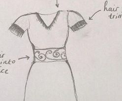 Kobieta chce uszyć najdziwniejszą suknię jaką można sobie wyobrazić