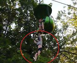 Dramatyczne nagranie z parku rozrywki. 14-latka spadła z gondoli