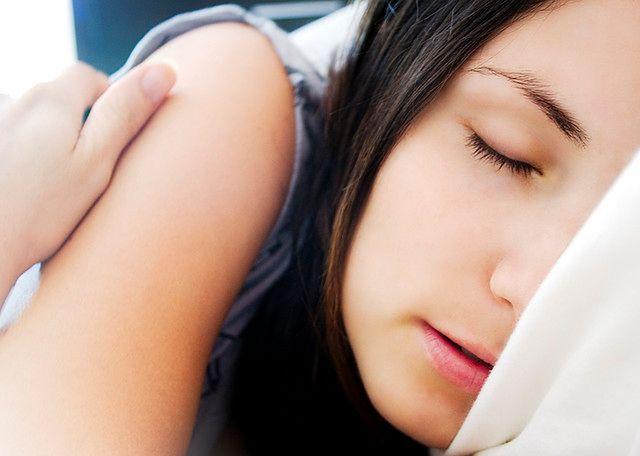 Spokojny sen kobiety
