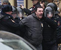 Rosja: W centrum Moskwy zatrzymano kilkadziesiąt osób. Wśród nich są niepełnoletni