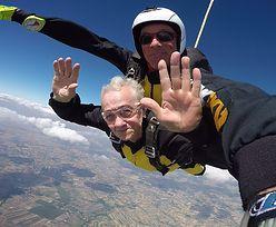 """Ma 84 lata i skoczyła z 3 tysięcy metrów. """"Po coś w końcu się żyje!"""""""