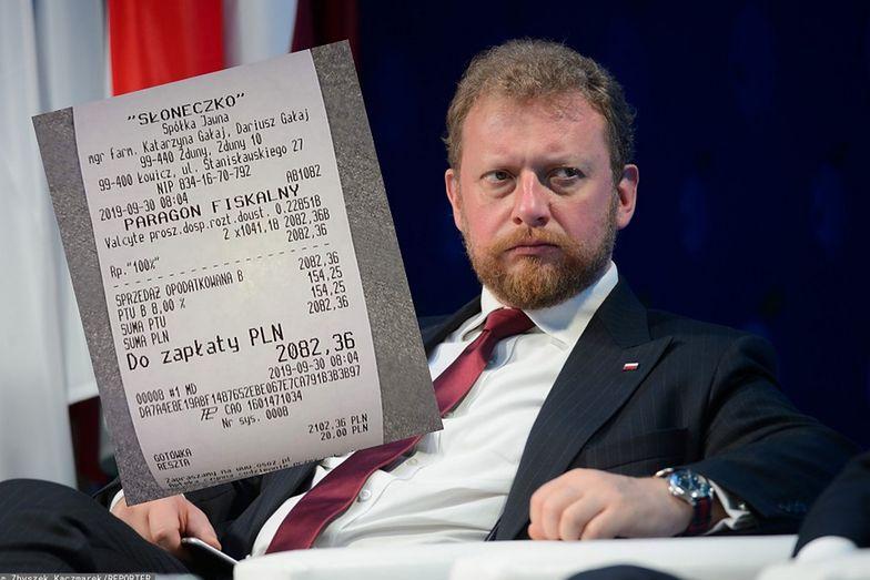 """Minister Łukasz Szumowski odpowiada na """"paragon hańby"""" Borysa Budki"""