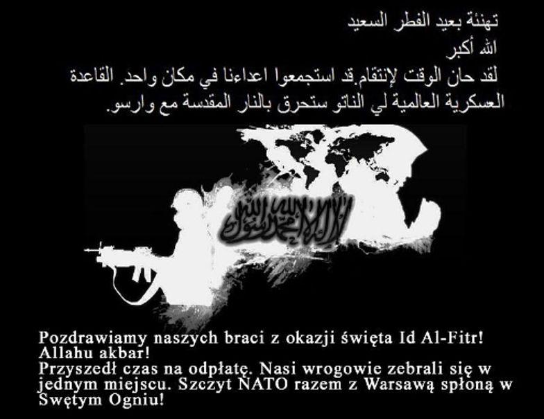 Groźby po arabsku na stronie Światowych Dni Młodzieży