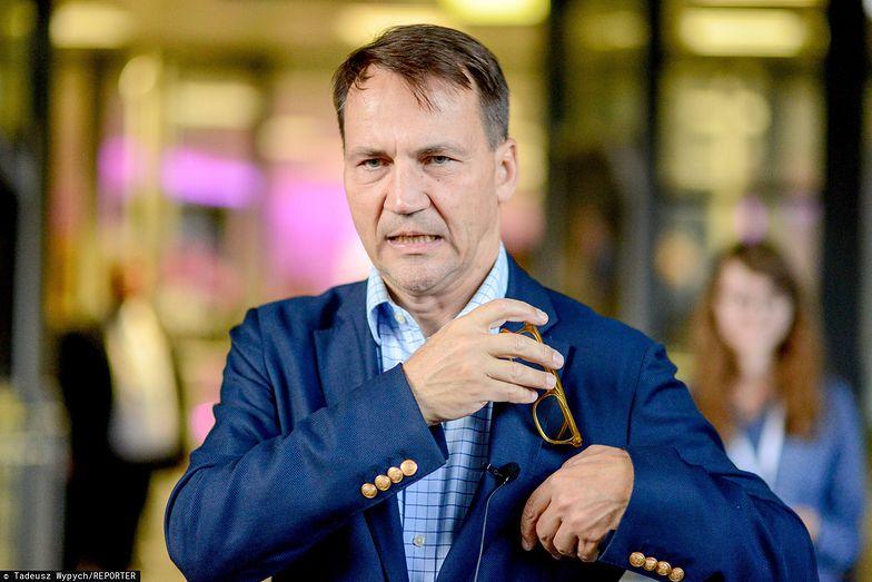Radosław Sikorski, eurodeputowany Koalicji Europejskiej