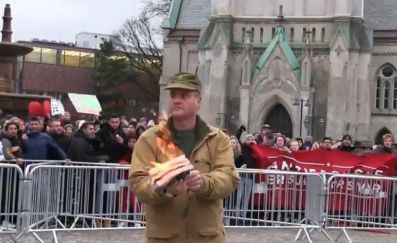 Norwegia. Spalił Koran podczas manifestacji. Zamieszki na ulicach