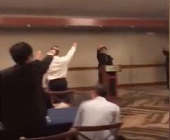 Licealiści pozdrawiali się nazistowskim gestem. Odśpiewali także hymn faszystów