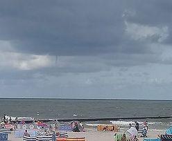 Trąba powietrzna nad Bałtykiem. Turyści zaskoczeni zjawiskiem