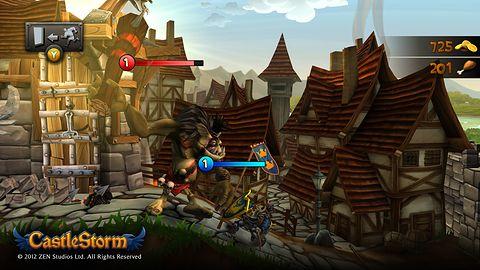 Zbuduj zamek i zniszcz twierdzę przeciwnika w Castlestorm